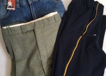 Trousers with alternative fasteners
